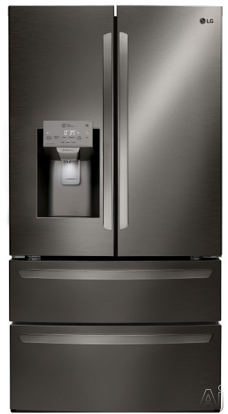 LG LMXS28626 36 Inch 4-Door French Door Refrigerator with SmartThinQ™ Technology, PrintProof™ Finish, Smart Cooling® System, Slim SpacePlus® Ice System, ENERGY STAR® and 27.8 cu. ft. Capacit