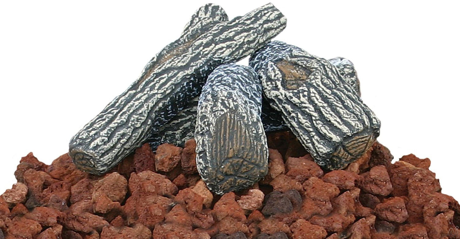 Blue Rhino LOGKIT Lava Rock and Faux Log Kit for Outdoor LP Fire Pits
