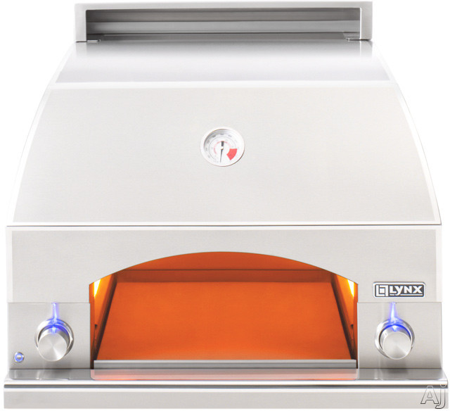 Lynx LPZALP 30 Inch Built-in Pizza Oven with 400 sq. ft. Extendable Cooking Surface, Infrared Heating, Concrete Refractory Interior Dome, Interior Lighting and Reversible Chimney Vent: Liquid Propane