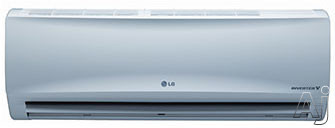 LG LS120HXV 12,000 BTU Single Zone Wall-Mount Ductless Split System with 13,000 BTU Heat Pump, 10.5 EER, 17.0 SEER and Inverter Compressor (LSN120HXV Indoor / LSU120HXV Outdoor) LS120HXV