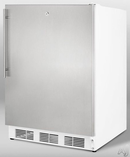 Summit ALFB621LSSHV 24 Inch Undercounter Freezer with 3 Removable Storage Baskets Manual Defrost  25C Capable Door Lock and ADA Compliant Stainless Door with Vertical Thin Handle