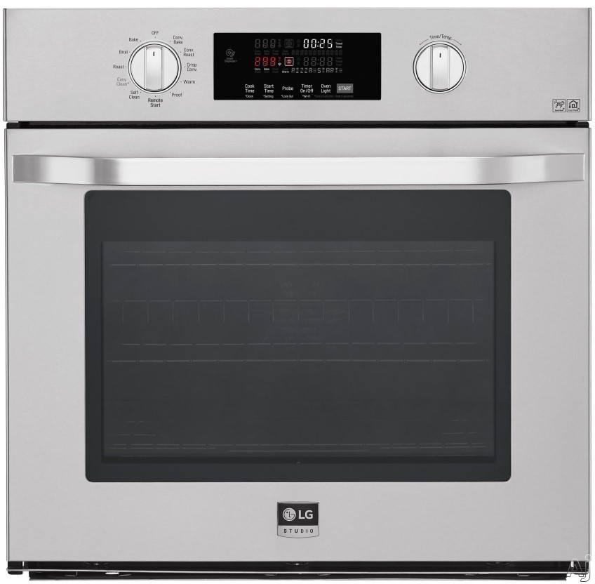 LG Studio LSWS307ST 30 Inch Single Electric Wall Oven with Convection, Gliding Rack System, EasyClean®, Hidden Bake, Self-Cleaning, SmartThinQ® Technology, Voice Commands, Wi-Fi Connectivity and