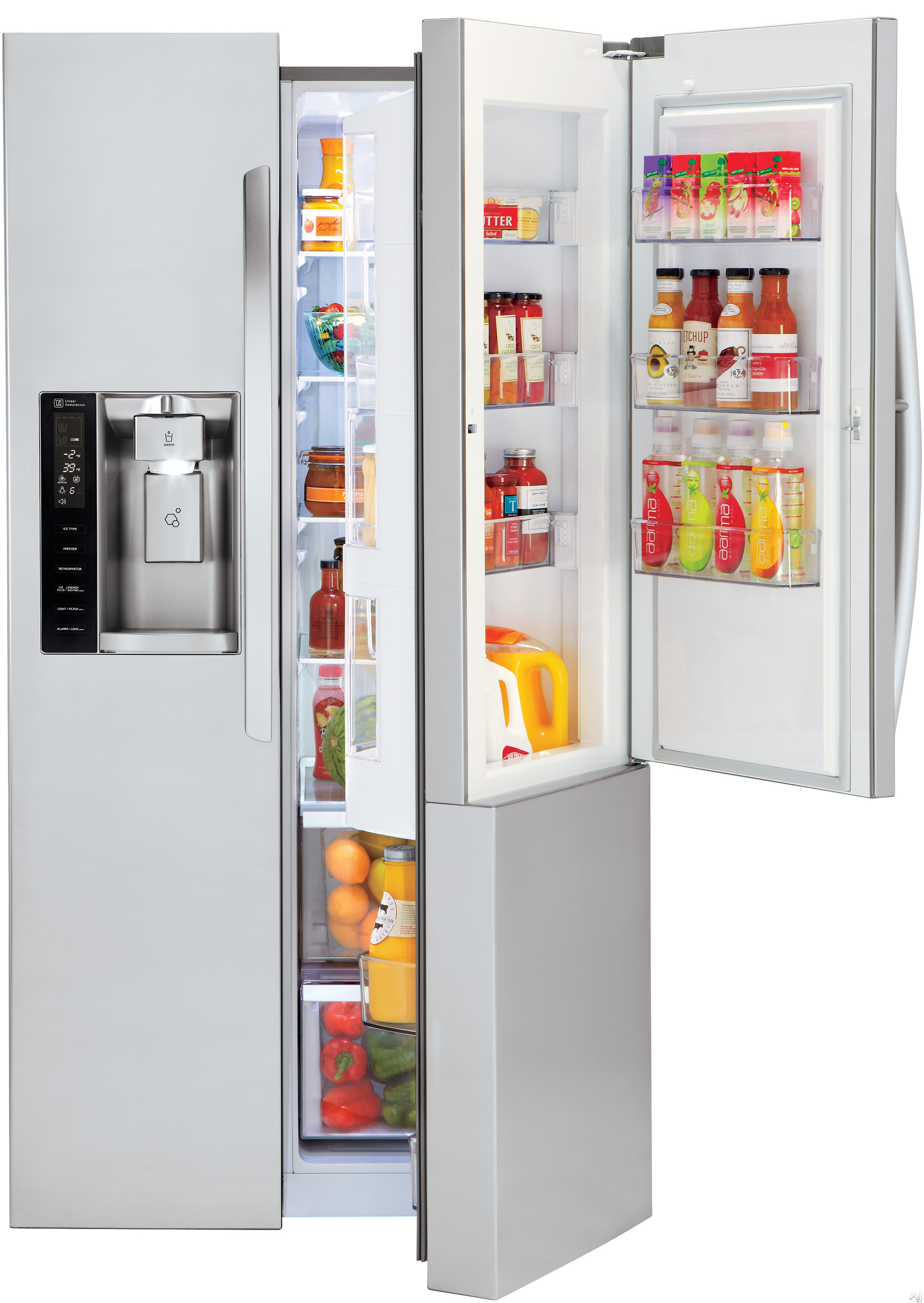 Lg Lsxs26366s 26 Cu Ft Side By Side Refrigerator With