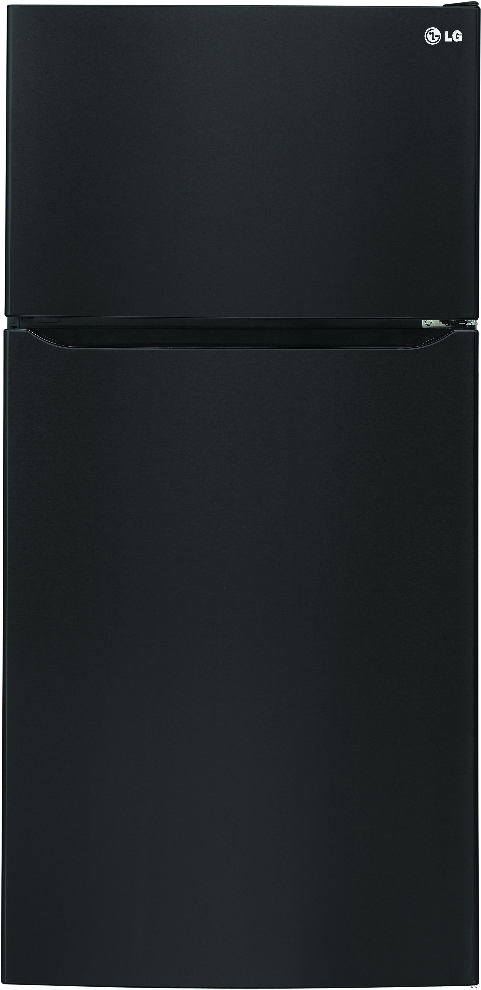 Image of LG LTCS20220B 30 Inch Top-Freezer Refrigerator with Ice Maker, Glide N' Serve® Pantry Drawer, Gallon Door Storage, Humidity-Controlled Crisper Drawers, Premium LED Lighting, ENERGY STAR® and 20.2 cu. ft. Capacity: Black