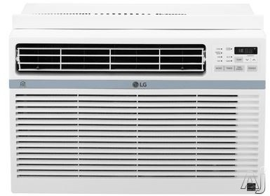 LG LW1017ERSM 10,000 BTU Window Air Conditioner with Wi-Fi, 24 Hour Timer, Auto Restart, 3 Fan Speeds, Wireless Remote, 12.1 EER, 2.7 Pts/Hr Dehumidification, Energy Star Rated and 115V LW1017ERSM