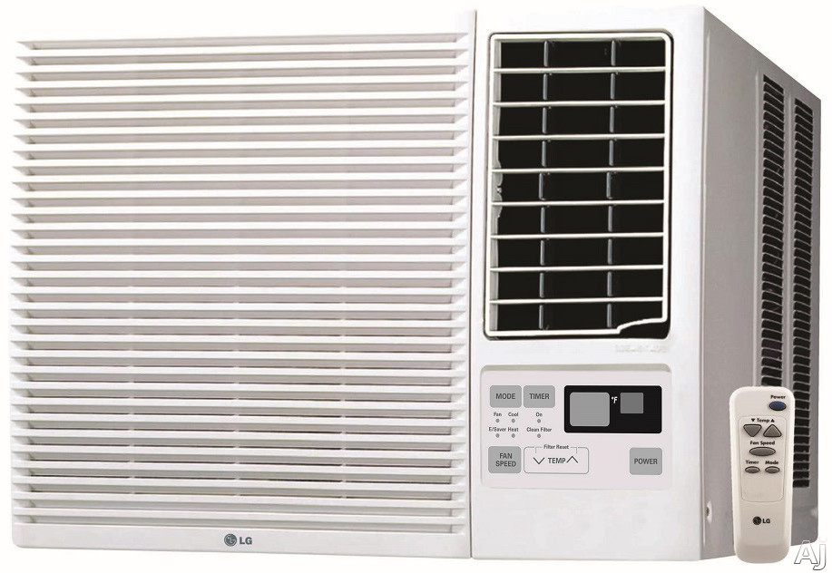 LG LW1816HR 18,000 BTU Window Air Conditioner with 12,000 BTU Electric Heat, 11.2 EER, 5.5 Pts/Hr Dehumidification, 1,000 sq. ft. Cooling Area, Remote Control and 230/208 Volts LW1816HR
