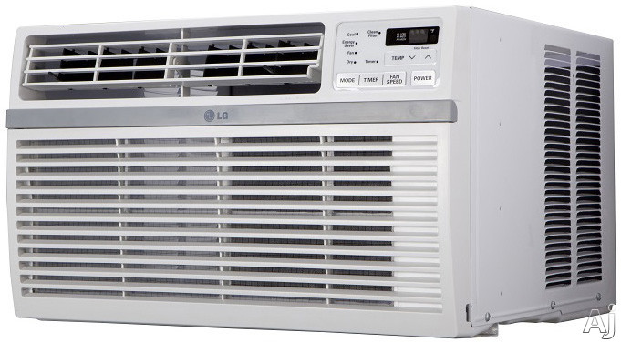 LG LW8016ER 8,000 BTU Window Air Conditioner with 12.1 EER, 2.2 Pts/Hr Dehumidification, 340 sq. ft. Cooling Area, Auto Restart, 24 Hr. Timer and Remote Control LW8016ER