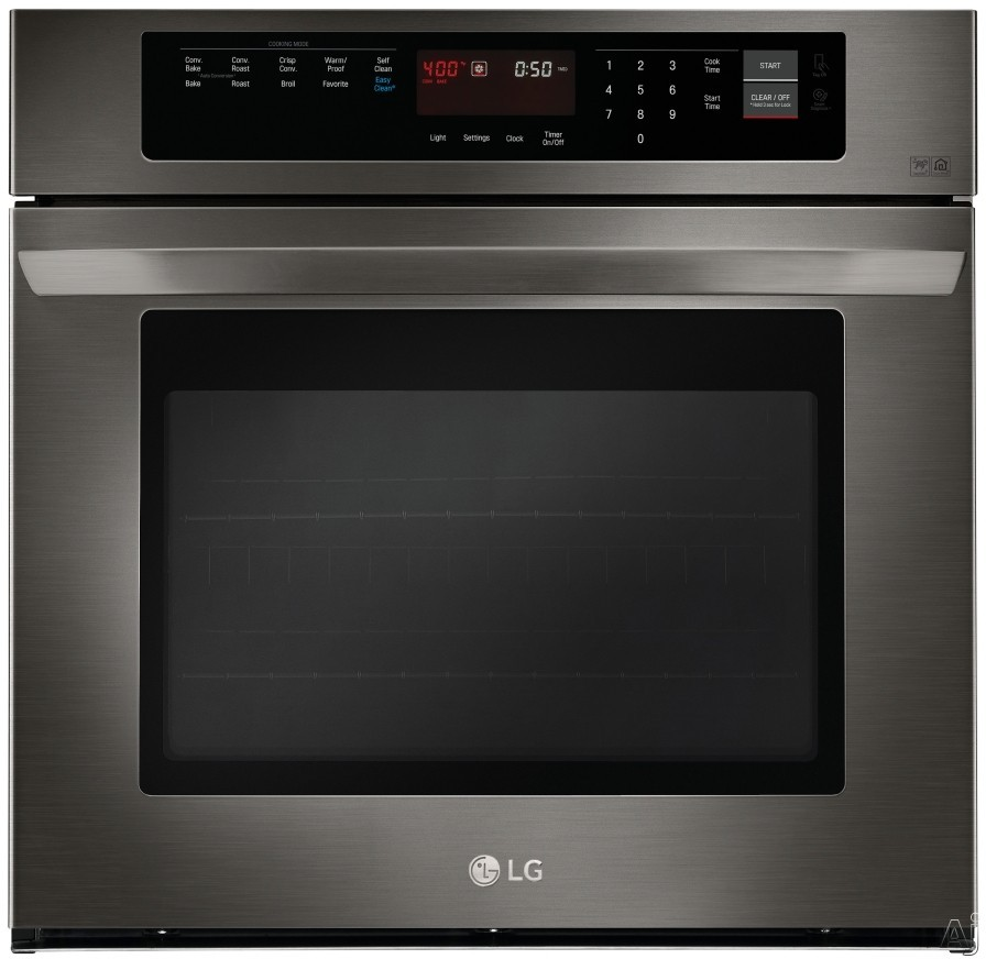 LG LWS3063BD 30 Inch Single Electric Wall Oven with Convection, Favorites, EasyClean, 4.7 cu. ft. Capacity, NFC Tag On Technology, 12 Hr. Automatic Shut-Off, Brilliant Blue Interior and Broiler Pan: B