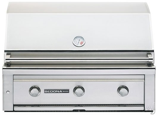 Lynx Sedona Series L600NG 36 Inch Built-In Grill with 891 sq. in. Grilling Area, 3 Stainless Steel Burners, 69,000 BTU's, Temperature Gauge, Halogen Grill Surface Light and LED Illuminated Controls: Natural Gas
