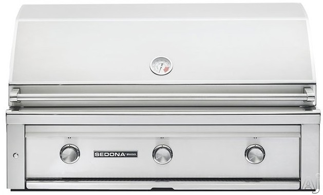 Lynx Sedona Series L700LP 42 Inch Built-In Grill with 1,049 sq. in. Grilling Area, 3 Stainless Steel Burners, 69,000 BTU's, Temperature Gauge, Halogen Grill Surface Light and LED Illuminated Controls:
