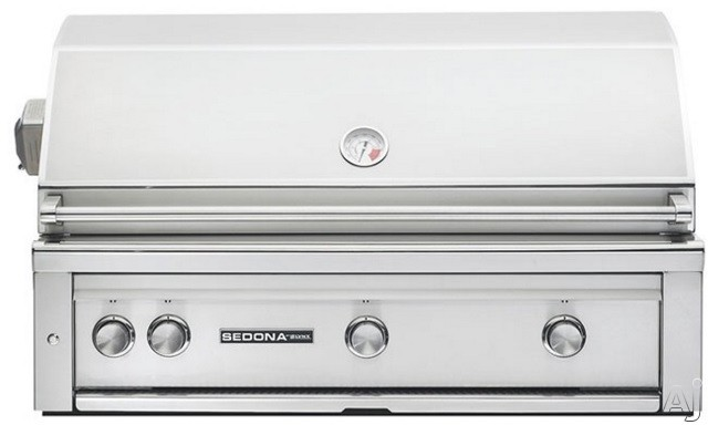 Lynx Sedona Series L700RLP 42 Inch Built-In Grill with Rotisserie, Temperature Gauge, LED Illuminated Controls, Halogen Grill Surface Light, 1,049 sq. in. Grilling Area, 4 Stainless Steel Burners and
