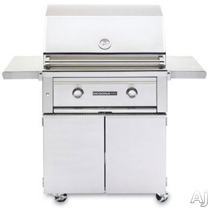 Lynx L500 Series L500FNG 50 Inch Freestanding Gas Grill with 733 sq. in. Cooking Surface, 46,000 Total BTUs, 2 Stainless Steel Tube Burners, LED Control Light and Temperature Gauge: Natural Gas