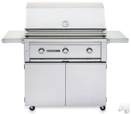 Lynx Sedona Series L600FR 56 Inch Freestanding Grill with 891 sq. in. Grilling Area, 4 Stainless Steel Burners, Rotisserie, 83,000 BTU's, Temperature Gauge, Halogen Grill Surface Light and LED Illuminated Controls