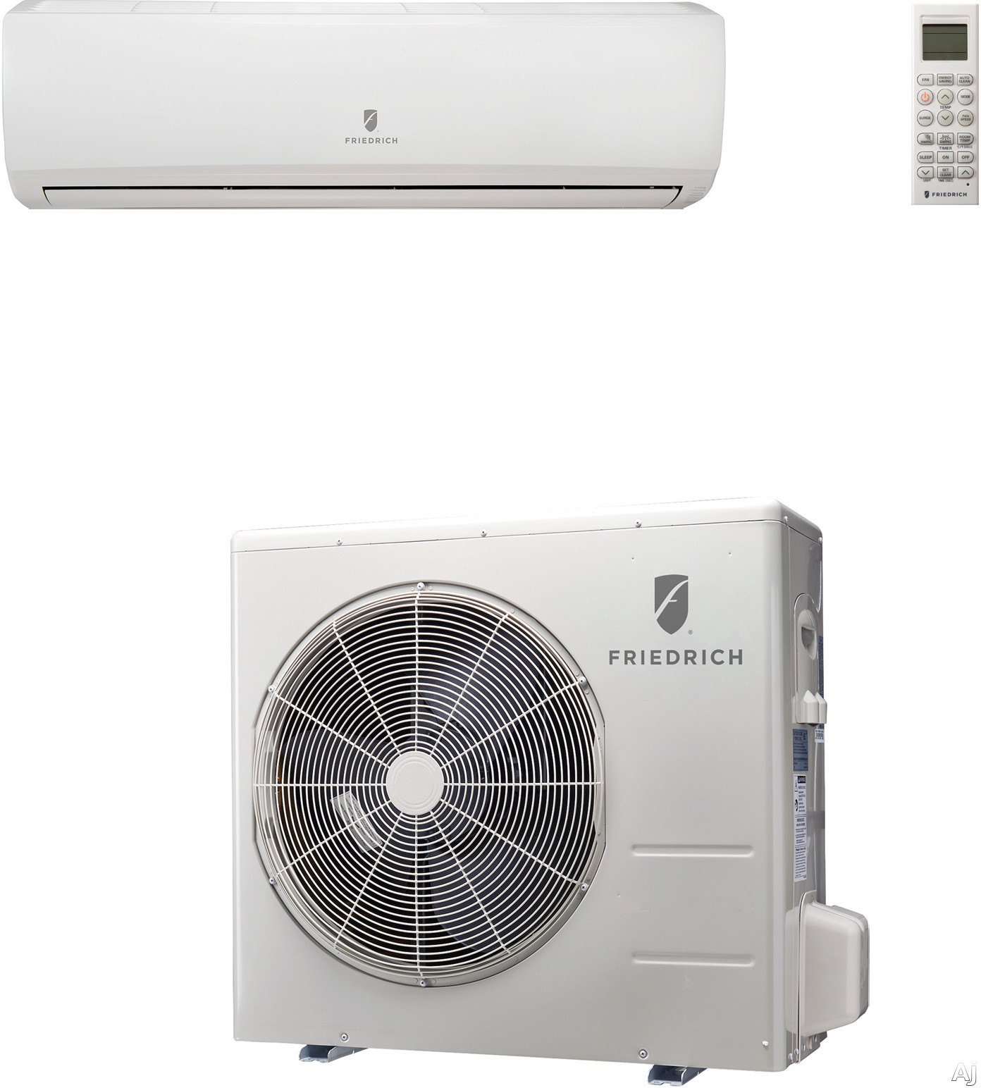 Friedrich M36YJ 33,000 BTU Single Zone Wall-Mount Ductless Split System with 35,200 BTU Heat Pump, 8.2 EER, 16.5 SEER and R410A Refrigerant (MW36Y3J Indoor/MR36Y3J Outdoor) M36YJ