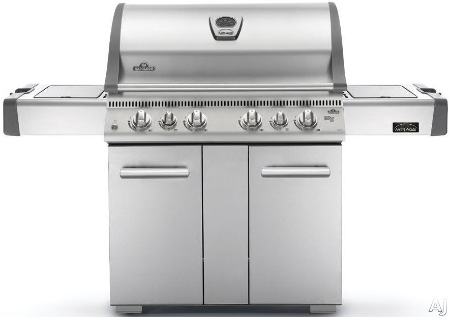 Napoleon LEX Series LEX605RSBINSS 69 Inch Freestanding Gas Grill with 850 sq. in. Cooking Area, 90,500 BTU, 3 Main Burners, Infrared Bottom Burner, Rear Infrared Rotisserie Burner and Side Burner: Natural Gas LEX605RSBINSS