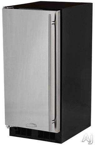 Marvel MA15CRS1LS 15 Inch Built-in Ice Maker with 15 Lbs. Ice Storage, 12 Lbs. Daily Ice Production, Solid Stainless Steel Door, Removable Ice Bucket and ADA Compliant: Left Hinge Door Swing