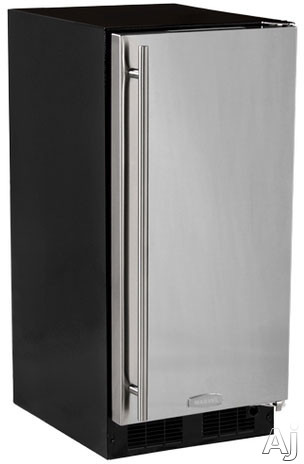 Marvel MA15CRS1RS 15 Inch Built-in Ice Maker with 15 Lbs. Ice Storage, 12 Lbs. Daily Ice Production, Solid Stainless Steel Door, Removable Ice Bucket and ADA Compliant: Right Hinge Door Swing