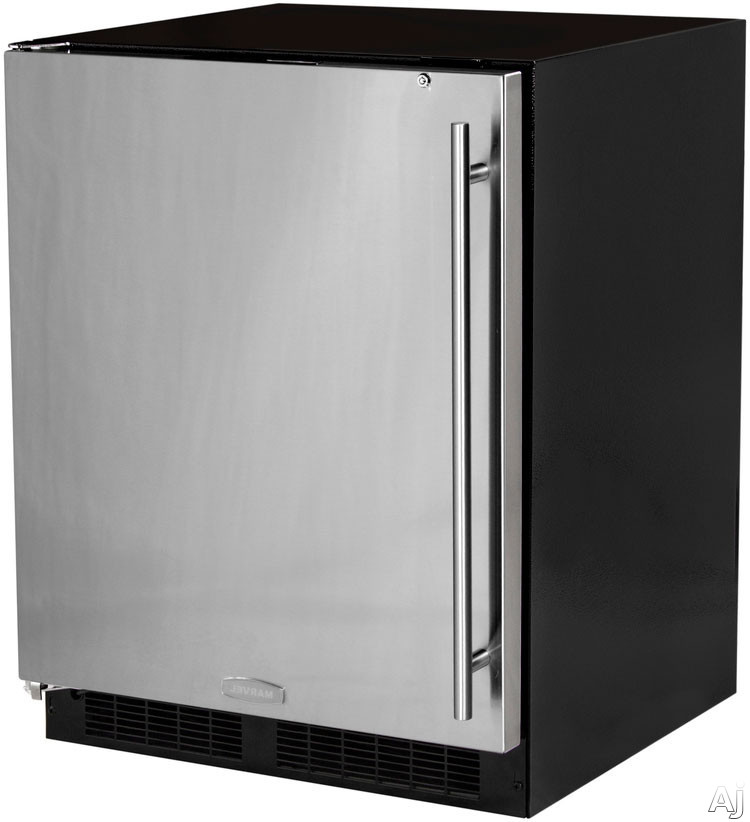 Marvel MA24RAS1LS 24 Inch Built-in Undercounter Refrigerator with 2 Full-Width Cantilever Glass Shelves, LED Theatre Display Lighting, Auto-Close Hinges, Built-in Security Lock, Sabbath Mode, Star-K Certified ADA Compliant and Energy Star Rated: Left Hinge Door Swing
