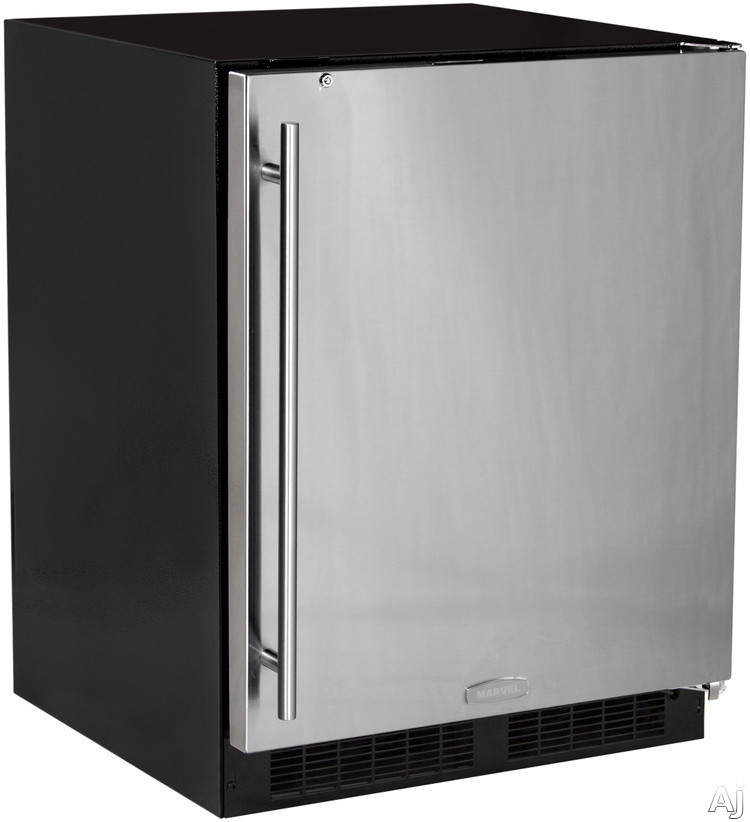 Marvel MA24RAS1RS 24 Inch Built-in Undercounter Refrigerator with 2 Full-Width Cantilever Glass Shelves, LED Theatre Display Lighting, Auto-Close Hinges, Built-in Security Lock, Sabbath Mode, Star-K Certified ADA Compliant and Energy Star Rated: Right Hinge Door Swing
