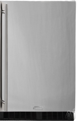 Marvel MA24RAS1XS 24 Inch Built-in Undercounter Refrigerator with 2 Full-Width Cantilever Glass Shelves, LED Theatre Display Lighting, Auto-Close Hinges, Built-in Security Lock, Sabbath Mode, Star-K Certified ADA Compliant and Energy Star Rated