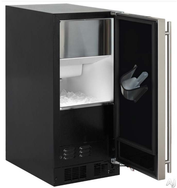 Marvel ML15CP 15 Inch Clear Ice Maker with 39.83 Lbs. Daily Ice Production, 35 Lbs. Storage Capacity, Factory Installed Pump, Arctic Illuminice LED Lighting, Close Door Assist System, Ultra-Quiet Operation and Intuit Touchscreen Controls