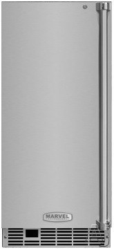 Marvel ML15CLS1LS 15 Inch Clear Ice Maker with 39.83 Lbs. Daily Ice Production, 35 Lbs. Storage Capacity, Gravity Drain, Arctic Illuminice LED Lighting, Close D