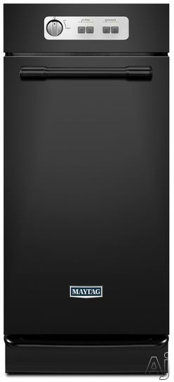 Maytag MTUC7500AFB 15 Inch Full Console Trash Compactor with 1.4 cu. ft. of Capacity, 5:1 Compaction Ratio, Odor Management System, Tilt-Away Trash Basket, Toe Bar Drawer Opener and Side Release Bin: Black