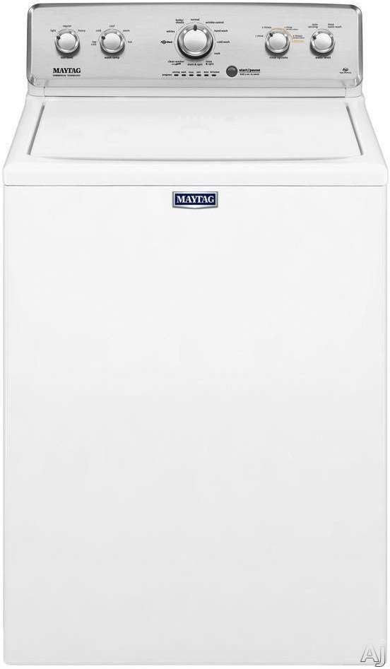 Maytag MVWC565FW 27 1/2 Inch 4.2 cu. ft. Top Load Washer with 11 Wash Cycle Selections, 5 Temperature Selections, Deep Water Wash Option, PowerWash, Auto Sensing Technology and Deep Rinse Option MVWC565FW