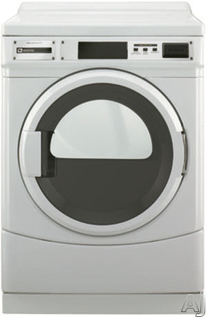 Maytag Commercial Laundry MDE25PRAYW 27 Inch 67 cu ft Commercial Electric Dryer with 3 Dry Cycles Card Ready Payment Advanced Computer Trac Controls and Large Capacity Lint Filter