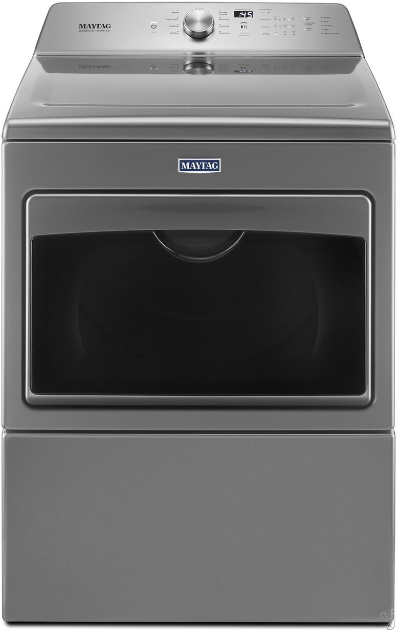 Maytag MEDB765F 27 Inch Electric Dryer with IntelliDry® Sensor, Rapid Dry Cycle, Wrinkle Prevention Option, High-Torque Motor, Drum Light, Sanitize Cycle, Audio Level Option and 7.4 cu. ft. Capacity