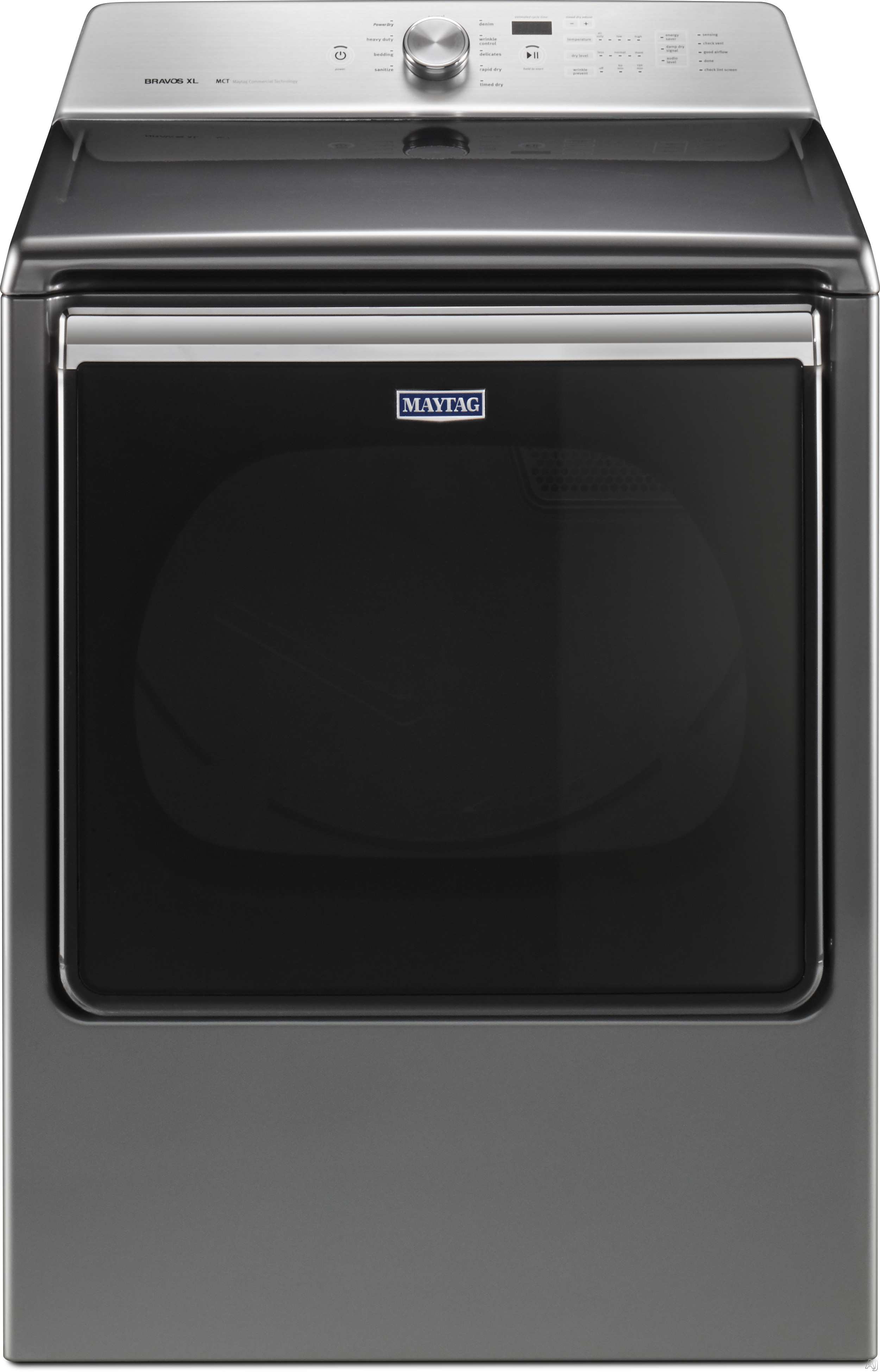 Maytag MEDB835D 29 Inch Electric Dryer with PowerDry Cycle, Advanced Moisture Sensing, Extra Interior Fin, Rapid Dry Cycle, Sanitize Cycle, Wrinkle Prevent Option, LED Drum Light, Audio Level Option and 8.8 cu. ft.