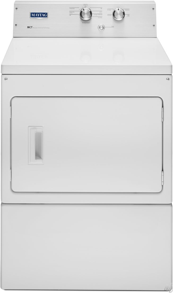 Maytag Heritage Series MGDP475EW 27 Inch 7.4 cu. ft. Gas Dryer with 13 Dry Cycles, 5 Temperature Selections, IntelliDry Sensor, Sanitize Cycle and Wrinkle Care
