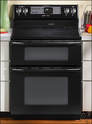 Maytag mer6772bab 30 freestanding double oven electric range w dual control bake broil - Maytag electric double oven range ...