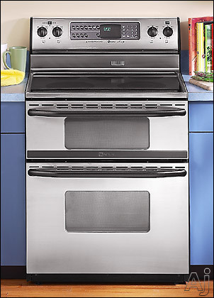 Maytag mer6772bac 30 freestanding double oven electric range w dual control bake broil - Maytag electric double oven range ...