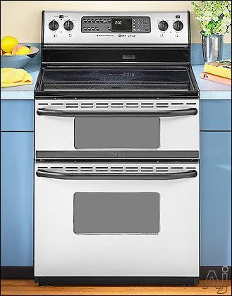 Maytag mer6772bas 30 inch freestanding double oven electric range w dual control bake broil - Maytag electric double oven range ...