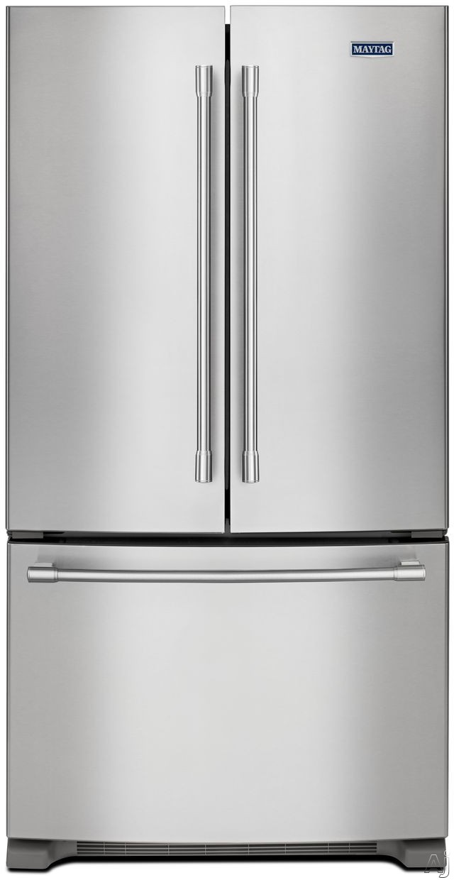 Maytag MFC2062FEZ 36 Inch Counter Depth French Door Refrigerator with PowerCold Feature, Internal Water Dispenser, Temperature Controlled Drawer, Adjustable Shelves, 2 Humidity Controlled Drawers, Ice Maker, Fingerprint Resistant Stainless Steel and 20 cu. ft. Capacity