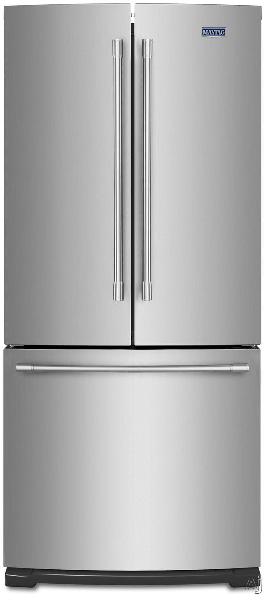 Maytag - 19.7 Cu. Ft. French Door Refrigerator - Stainless steel MFF2055FRZ