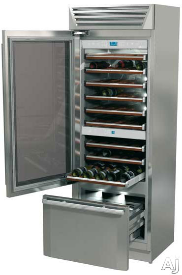 fhiaba-standplus70-series-mg7491twt3u-30-built-in-dual-zone-wine-cellar-with-99-bottle-capacity-9-wooden-shelves-cantina-compartment-trimode-convertible-freezer-drawer-stainless-steel-interior-left-hinge-door-swing