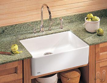 "Franke MHK11024WH 24"" Apron Front Single Bowl Fireclay Sink: White, U.S. & Canada MHK11024WH"
