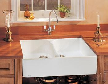 "Franke MHK72035WH 35"" Apron Front Double Bowl Fireclay Sink, U.S. & Canada MHK72035WH"