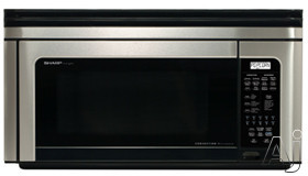 Sharp R1880LS 1.1 Cu. Ft. Over-the-Range Microwave Oven with 850 Cooking Watts, Automatic Defrost & Convection Bake/Roast/Broil: Stainless Steel