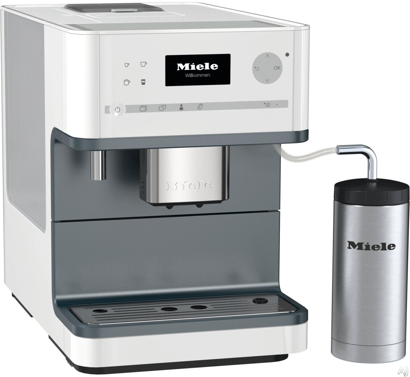 Miele CM6350 Countertop Coffee Machine with AromaticSystem, ComfortClean, Easily removable Brew Unit, System Lock, User Profiles and Individual Settings