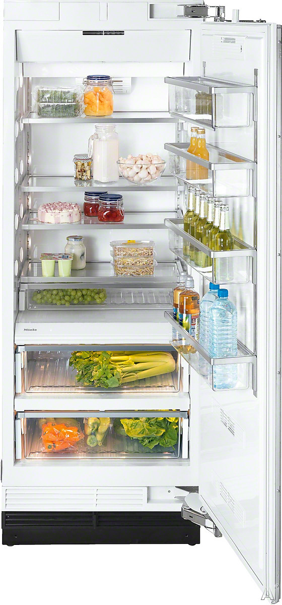 Miele MasterCool Series K1803 30 Inch Built-In Full Refrigerator Column with Spillproof Glass Shelving, Humidity-Controlled MasterCool Drawers, SuperCool, RemoteVision Capable, FullView Extendable Storage Drawers, ENERGY STAR® and 15.9 cu. ft. Capacity