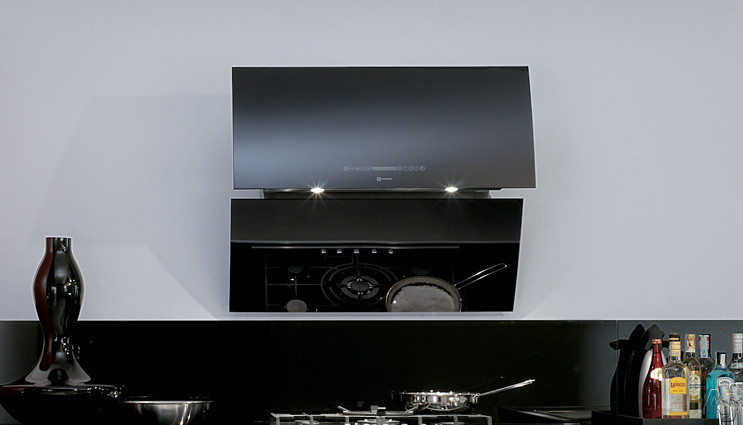 Faber Image Collection MIRR36BK 36 Inch Mirror Wall-Mount Range Hood with 600 CFM Internal PRO Blower, 7-Speed Touch Controls, Anti-Pollution/Delayed Shut-Down Modes and 5 Level Halogen Lighting MIRR36BK