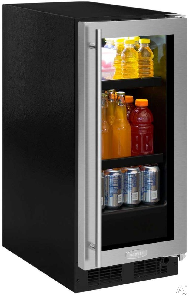 Marvel ML15BC2 15 Inch Beverage Center with Adjustable Shelving, Arctic White Theater-Style LED, Food Storage Capable, ENERGY STAR® and 2.7 cu. ft. Capacity, Stores (72) 12-Oz. Cans and 3 Wine Bottles