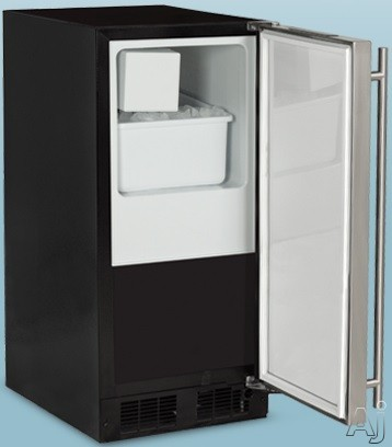 Marvel ML15CRP1LP 15 Inch Crescent Cube Ice Maker with 15 Lbs. Ice Storage, 7 Lbs. Daily Production, Crescent Ice, Close Door Assist System, Removable Ice Bucket and No Drain Required: Panel Ready Doo