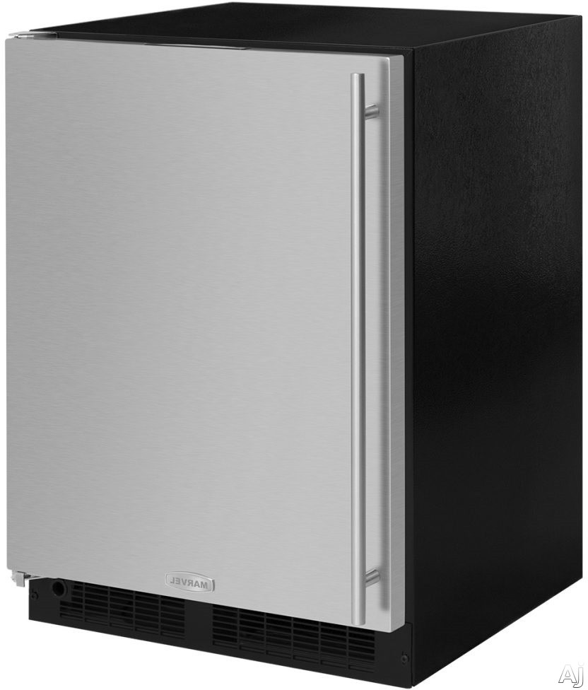 Marvel ML24RFS3LS 24 Inch Built-In Refrigerator Freezer with MaxStore™ Utility Bin, Cantilevered Glass Shelving, Arctic White LED, Marvel Intuit™ Integrated Controls, Close Door Assist System, ENERGY STAR® and 4.9 cu. ft. Capacity: Left Hinge