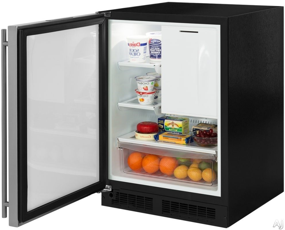 Marvel ML24RIS4LS 24 Inch Built-In Refrigerator Freezer with Crescent Ice Maker, MaxStore™ Utility Bin, Cantilevered Glass Shelving, Arctic White LED, Marvel Intuit™ Integrated Controls, Close Door Assist System, ENERGY STAR® and 4.9 cu. ft. Capacity: Left Hinge