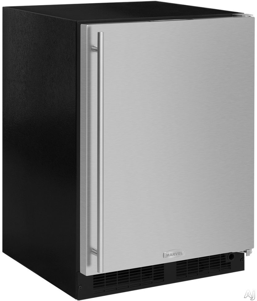 Marvel ML24RIS4RS 24 Inch Built-In Refrigerator Freezer with Crescent Ice Maker, MaxStore™ Utility Bin, Cantilevered Glass Shelving, Arctic White LED, Marvel Intuit™ Integrated Controls, Close Door Assist System, ENERGY STAR® and 4.9 cu. ft. Capacity: Right Hinge