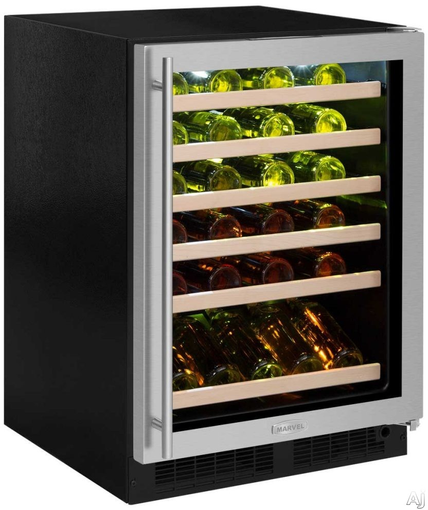 8640512d37f Marvel ML24WSF4RP 24 Inch Built-In Single Zone Wine Refrigerator with  45-Bottle Capacity